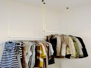clothing rack ideas for small space