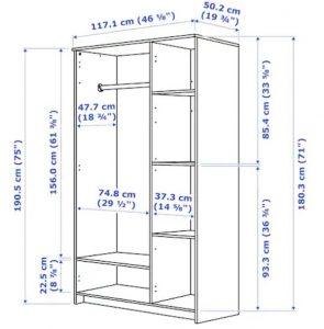 standard dimensions for a bedroom closet