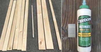 wooden clothes hanger rack