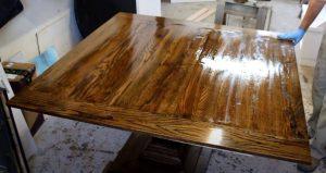 varnish wood finish