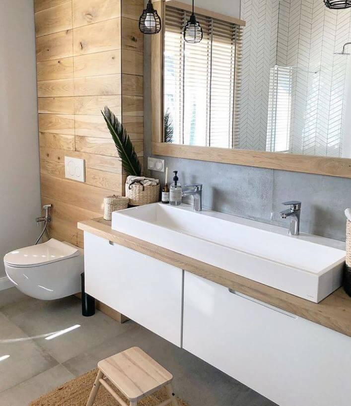 Waterproof Wood Bathroom Countertop