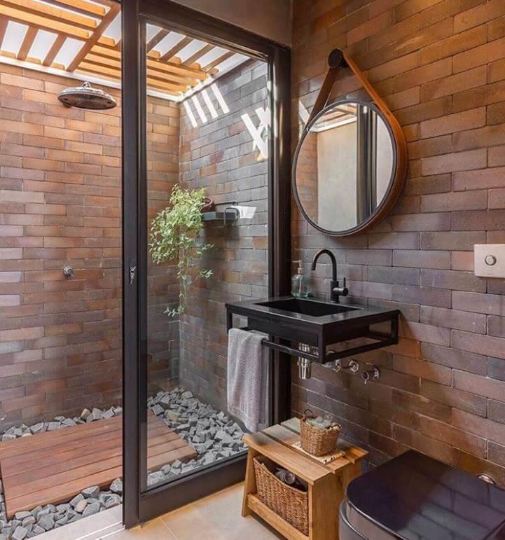 Waterproof Wood Panels Bathroom
