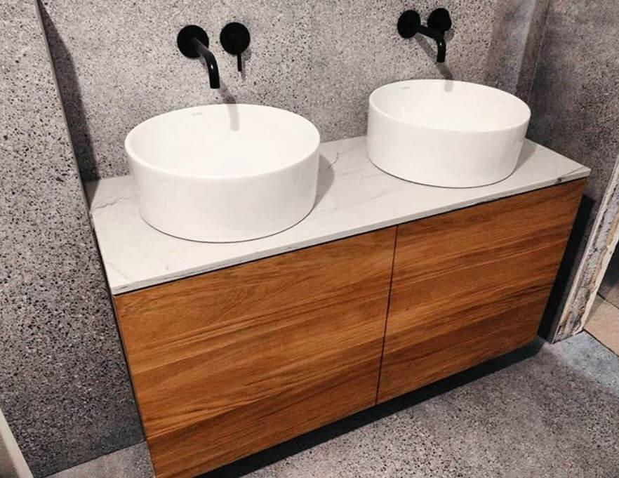 Waterproof Wooden Bathroom Cabinet