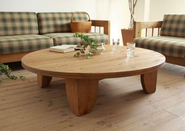 Round Chabudai Table