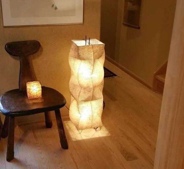3 Bulb Paper Floor Lamp