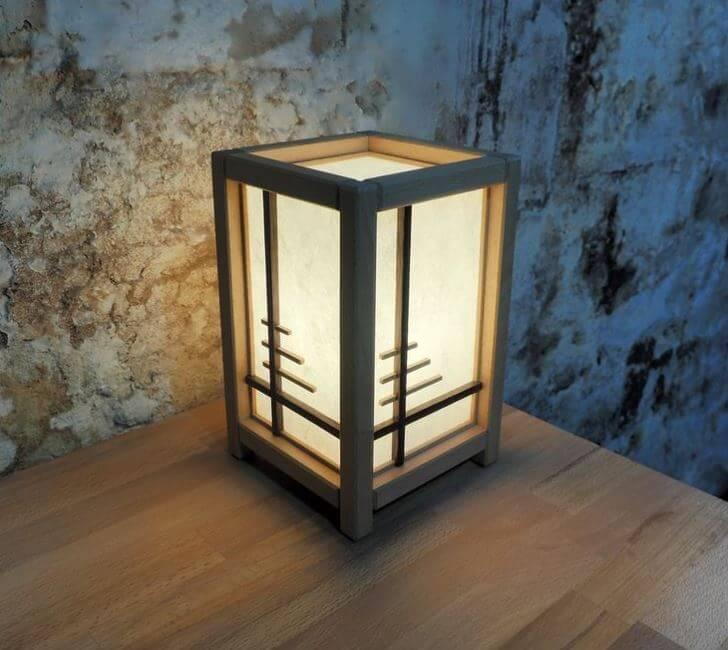 Cream Paper Floor Lamp